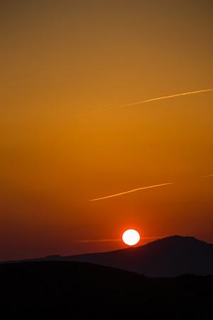 阿蘇からの夕日